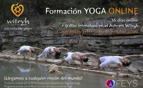 Nueva formación de Yoga en la Escuela de Yoga Witryh ONLINE